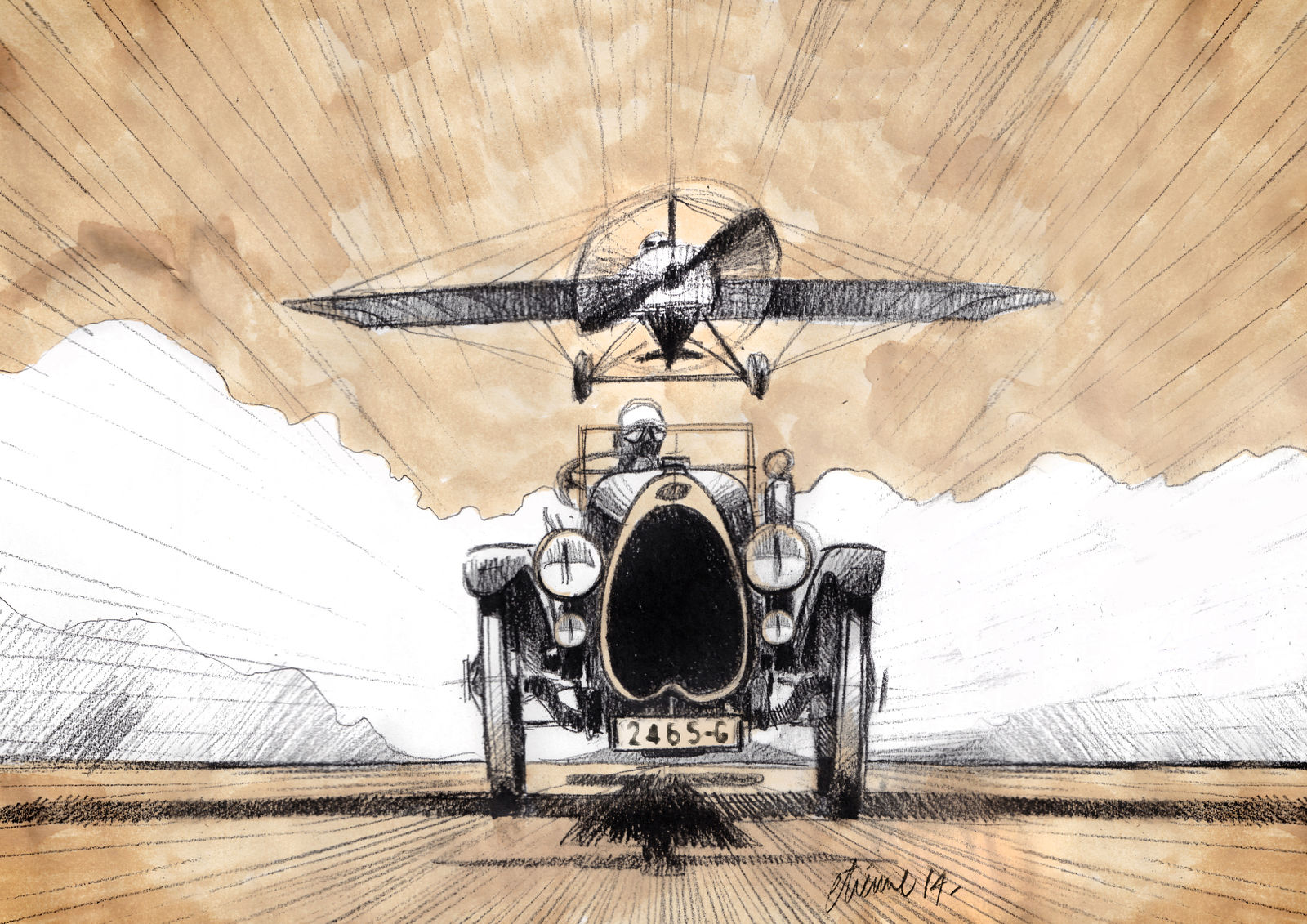 "Bugatti's ""Dare Devils"" – combining flying and racing cars"