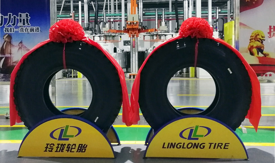 Linglong Successfully Makes First TBR Tire at Hubei Factory