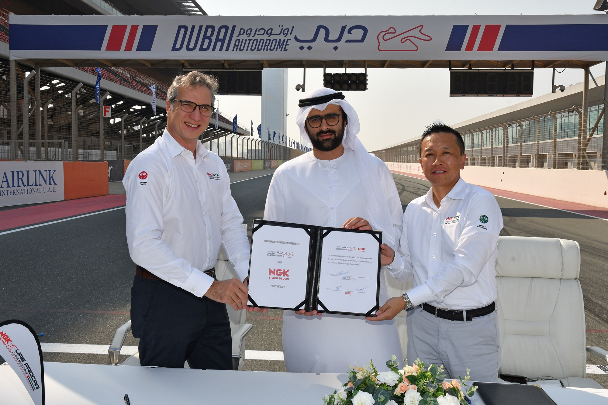 NGK Spark Plugs Renews Its Support for Motorsport in the UAE Dubai