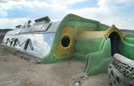 Discarded Tires Used for Making Tire Homes and Earthships