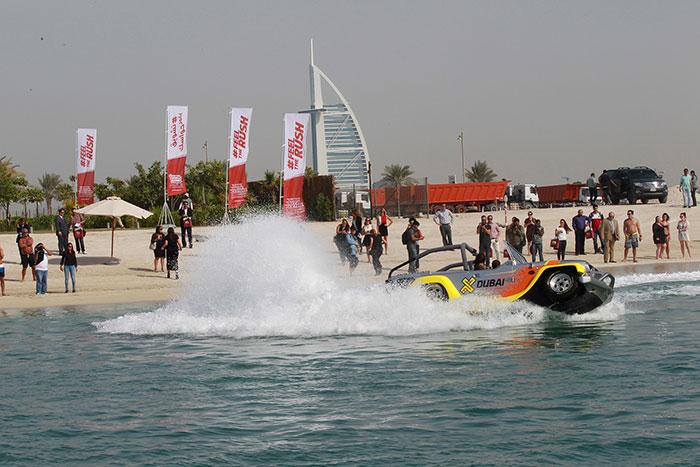 First Amphibious Car Creates a Splash at Dubai Motor Festival