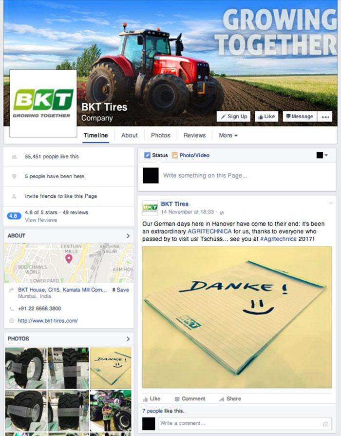BKT Scores on Social Media with Over 55000 Facebook Fans