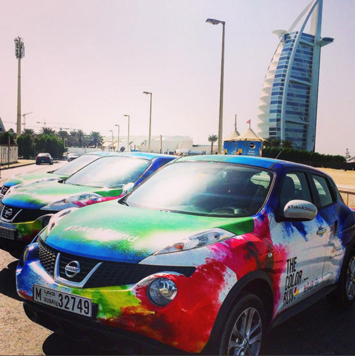 Nissan Juke Official Vehicle for The Color Run in Dubai