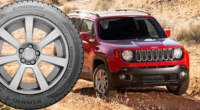 FCA Selects Kumho Tires for Jeep Renegade