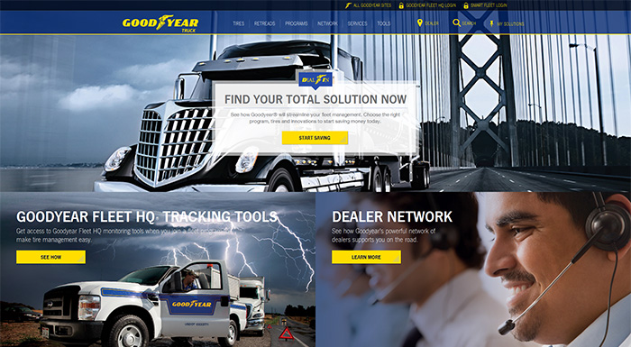 Goodyear Launches New Website for Sale of Commercial Truck Tires