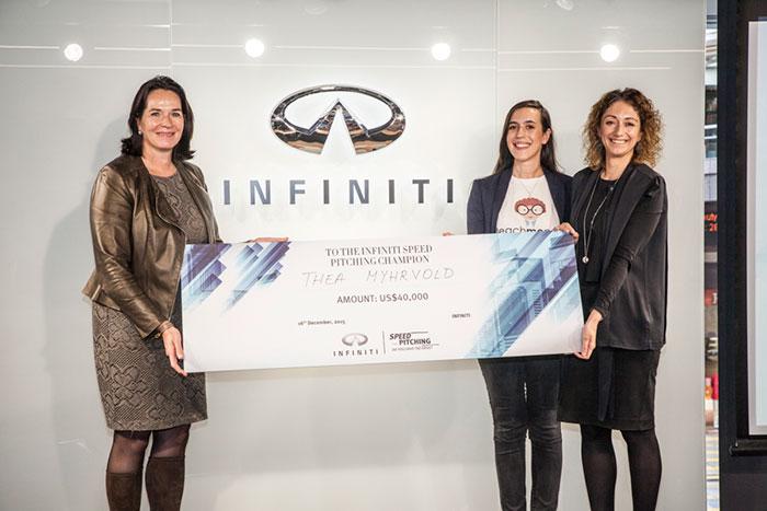 UAE Woman Wins 'Infiniti Speed Pitching' Contest