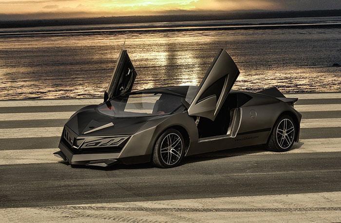 First Made in Qatar Supercar Elibriea Makes Debut at Qatar Motor Show