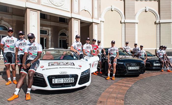 Audi and Al Nabooda Automobiles Sponsor Dubai Tour and New Kit for Skype Dubai Pro Cycling Team Kit