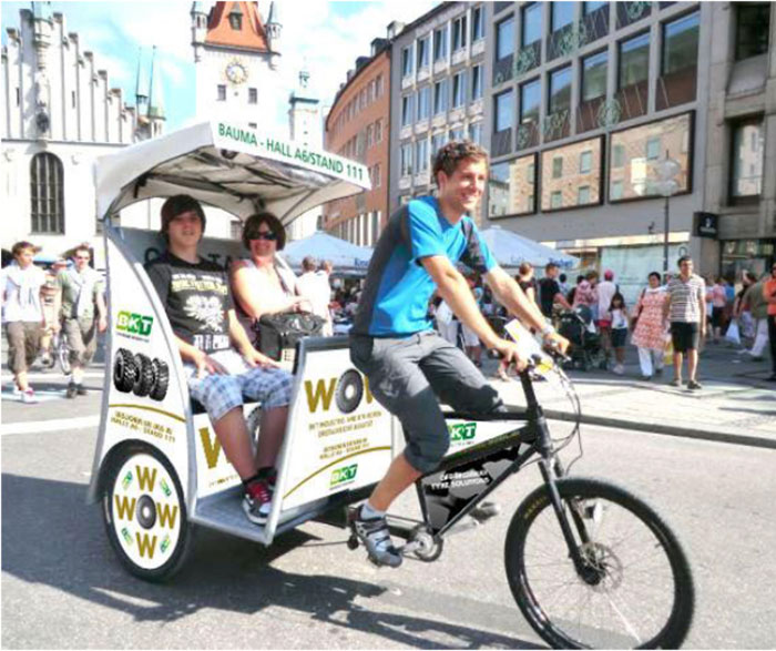 BKT Prepares for BAUMA 2016 with Customization of Rickshaws