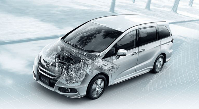 Odyssey Gets Honda's Updated Two Motor Hybrid System