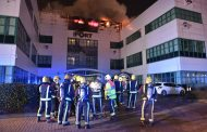 100 Firefighters Battle Fire at UK Headquarters of Goodyear Dunlop