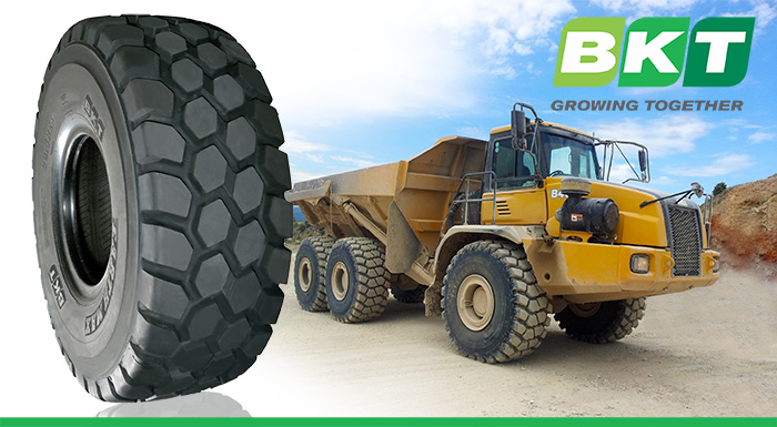 BKT to Debut Earthmax SR 31 tire at BAUMA 2016