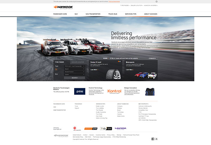 Hankook Revamps Company Website for Europe