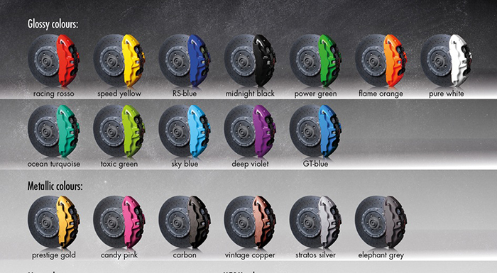 Foliatec Unveils Three New Brake Caliper Lacquers Tires