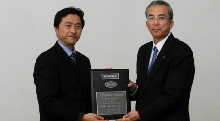 Bridgestone Receives Honda Award for Environmental Initiatives