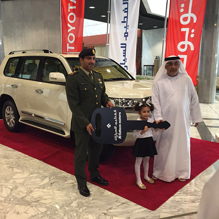 Al-Futtaim Motors Offers New Landcruiser to Winner of Draw for Customers from  UAE Armed Forces