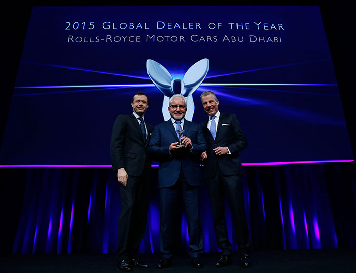 Abu Dhabi Motors Gets Rolls-Royce Global Dealer of the Year Award For Third Consecutive Year
