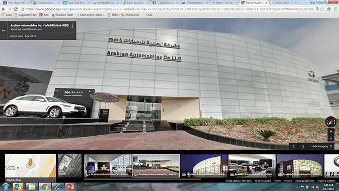 Arabian Automobiles Launches First Infiniti Virtual Showroom on Google Maps