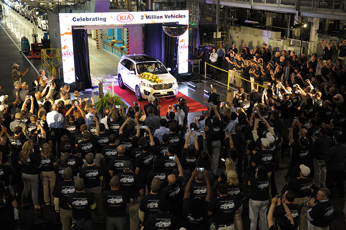 Kia Crosses Production Milestone of Two Million Vehicles in the United States