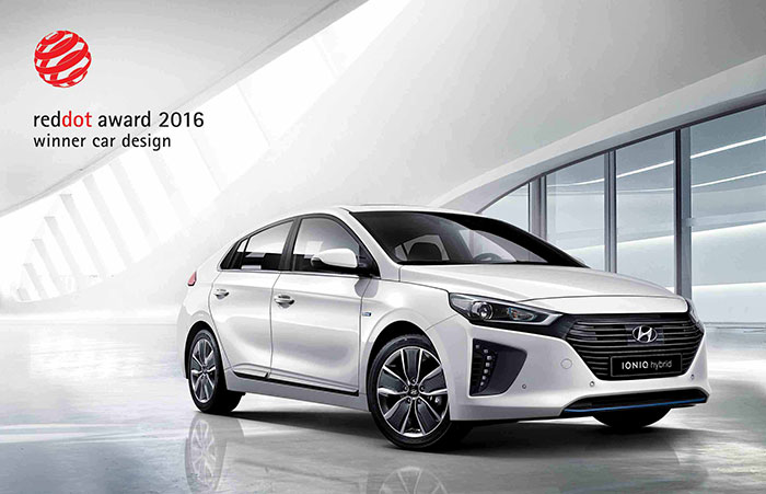 Hyundai Wins Red Dot Design Award for IONIQ Alternative-Fuel Car