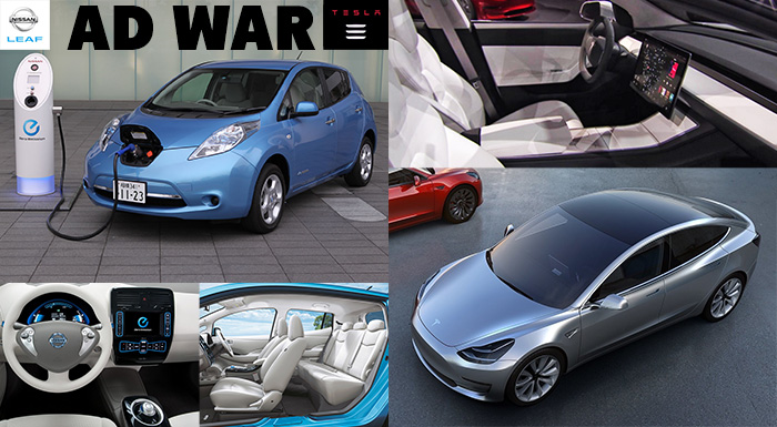 Nissan Engages in Ad Wars with Tesla