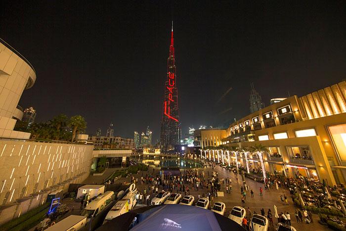 Jaguar Launches All-New F-Pace with Spectacular Burj Khalifa Exhibit