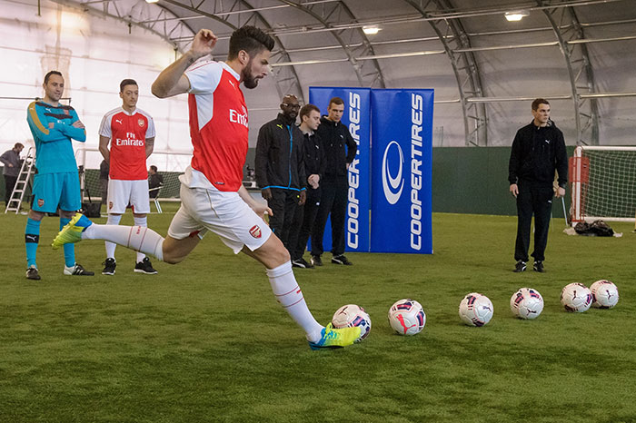 Arsenal Players Take on New Precision Challenge from Cooper