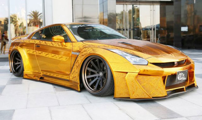Gold-Plated Car Steals the Show at Automechanika 2016