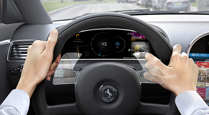 Continental Announces Gesture Control Integration into Steering Wheel