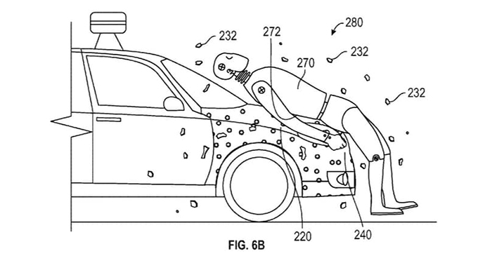 Google's Newly Patented Safety System Glues Pedestrians to Cars