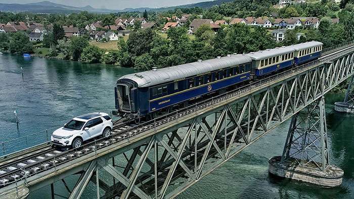 Land Rover Showcases Towing Capacity with Railroad Stunt