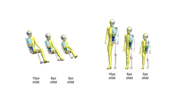Child Models Now Added to Toyota's Virtual Crash Dummy Lineup