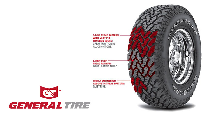 The General Grabber AT2 Tire is an All-Terrain Tire with an Attitude