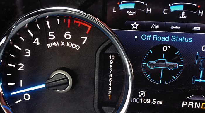 New Ford F-150's Instrument Cluster Boasts 10 Speed Transmission Display