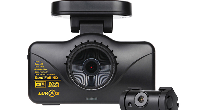 Rear View Safety Unveils LK-7950 Lukas Dual Lens Dash Camera with Wifi & GPS
