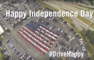 Auto Dealer Makes Supersize Flag with Cars to Celebrate US Independence Day