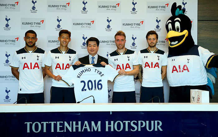Kumho Signs Sponsorship Deal with Tottenham Hotspurs