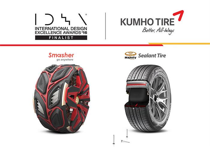 Kumho Wins IDEA Design Awards for Smasher and  Sealant Tires