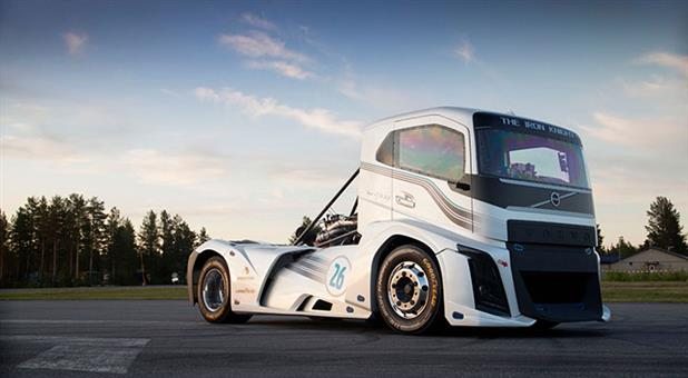 Volvo Trucks Break Two World Speed Records on Goodyear Tires