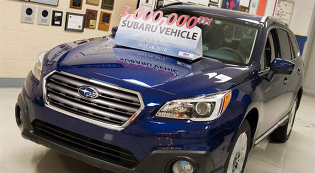 Subaru Crosses 3 Million Mark at Lafayette Factory in the United States