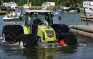 Mitas Tires Help Tractor Walk on Water