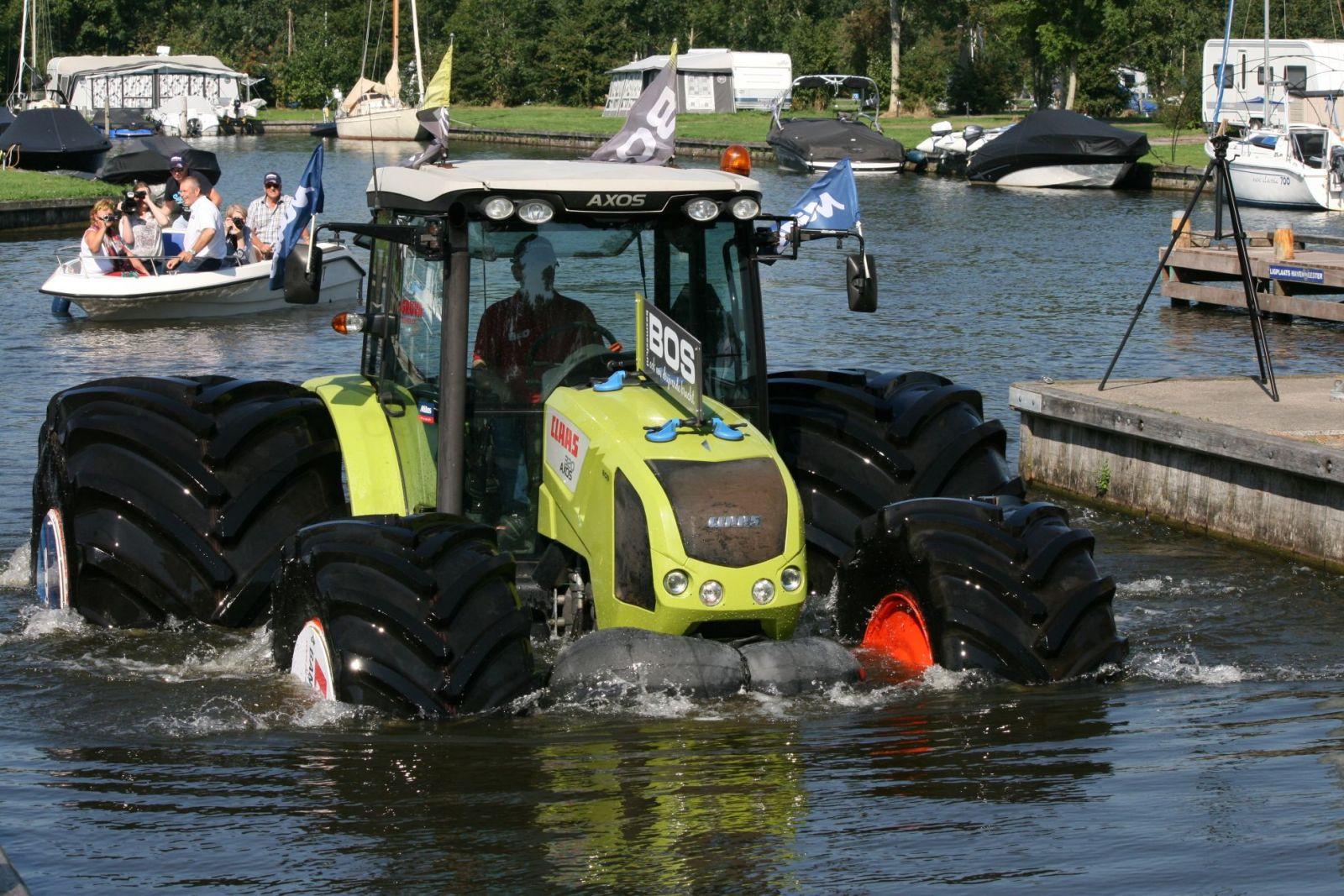 Mitas Tires Help Tractor Walk on Water