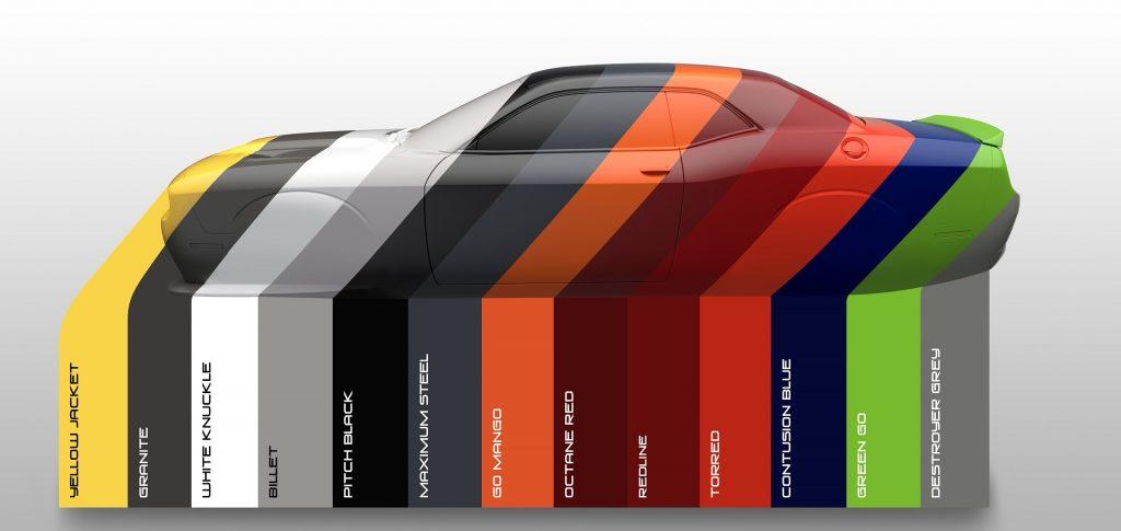 Dodge Unveils Colors for 2017