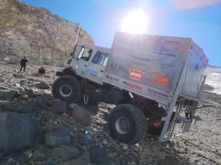 Yokohama Subsidiary Tires Power Truck Trip to Highest Altitude Ever