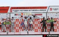 Teams running on YOKOHAMA's ADVAN racing tires dominate GT300 class winners' podium at Round 7 of SUPER GT