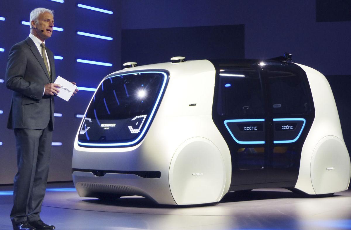 Volkswagen Showcases Concept Autonomous Vehicle at Shanghai Auto Show