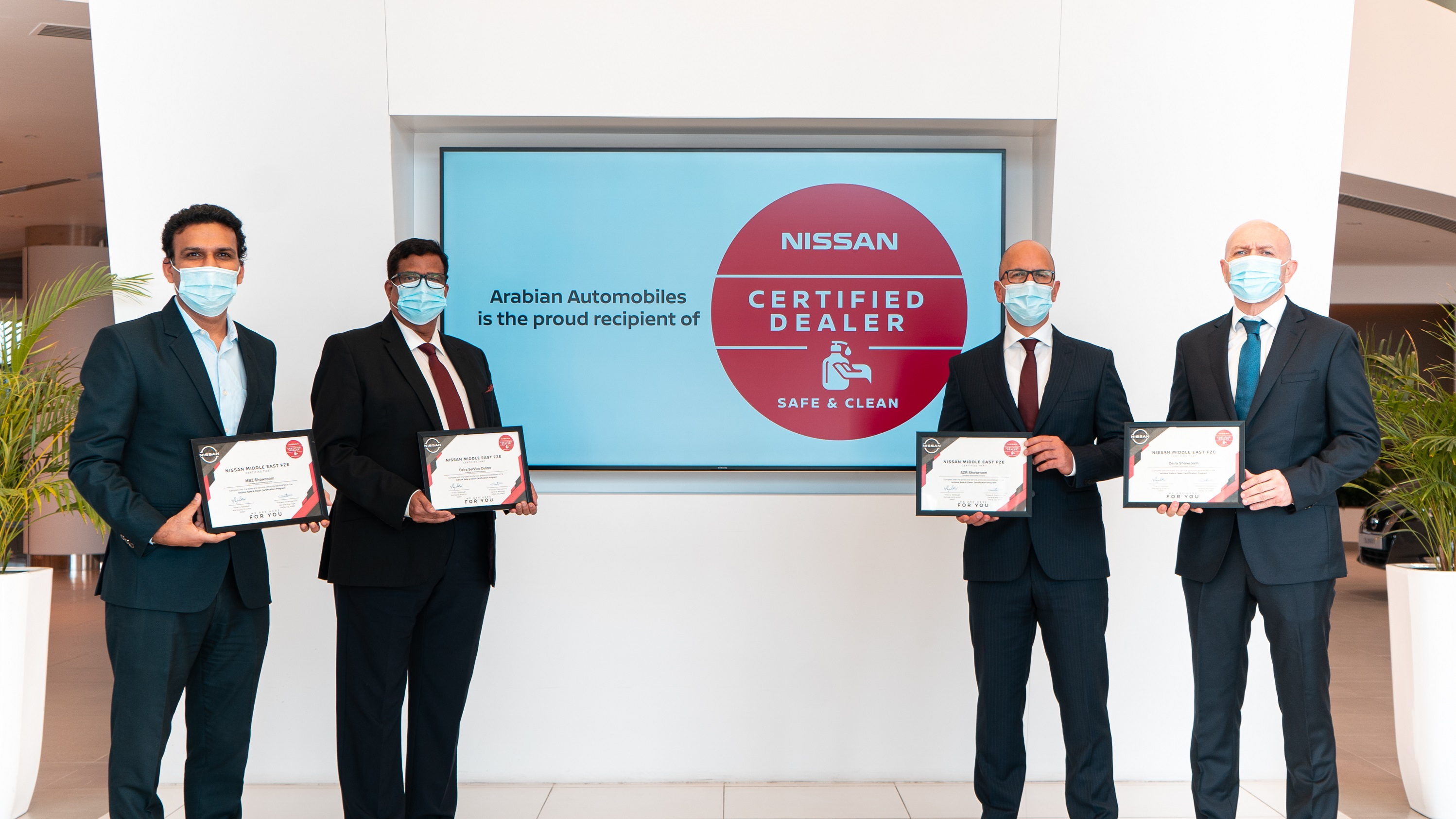 Arabian Automobiles awarded 'Safe and Clean' certification from Nissan