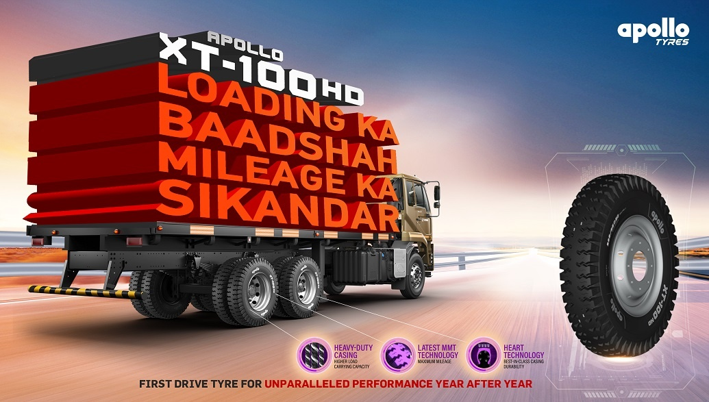 Apollo Tyres introduces XT-100HD for commercial vehicles