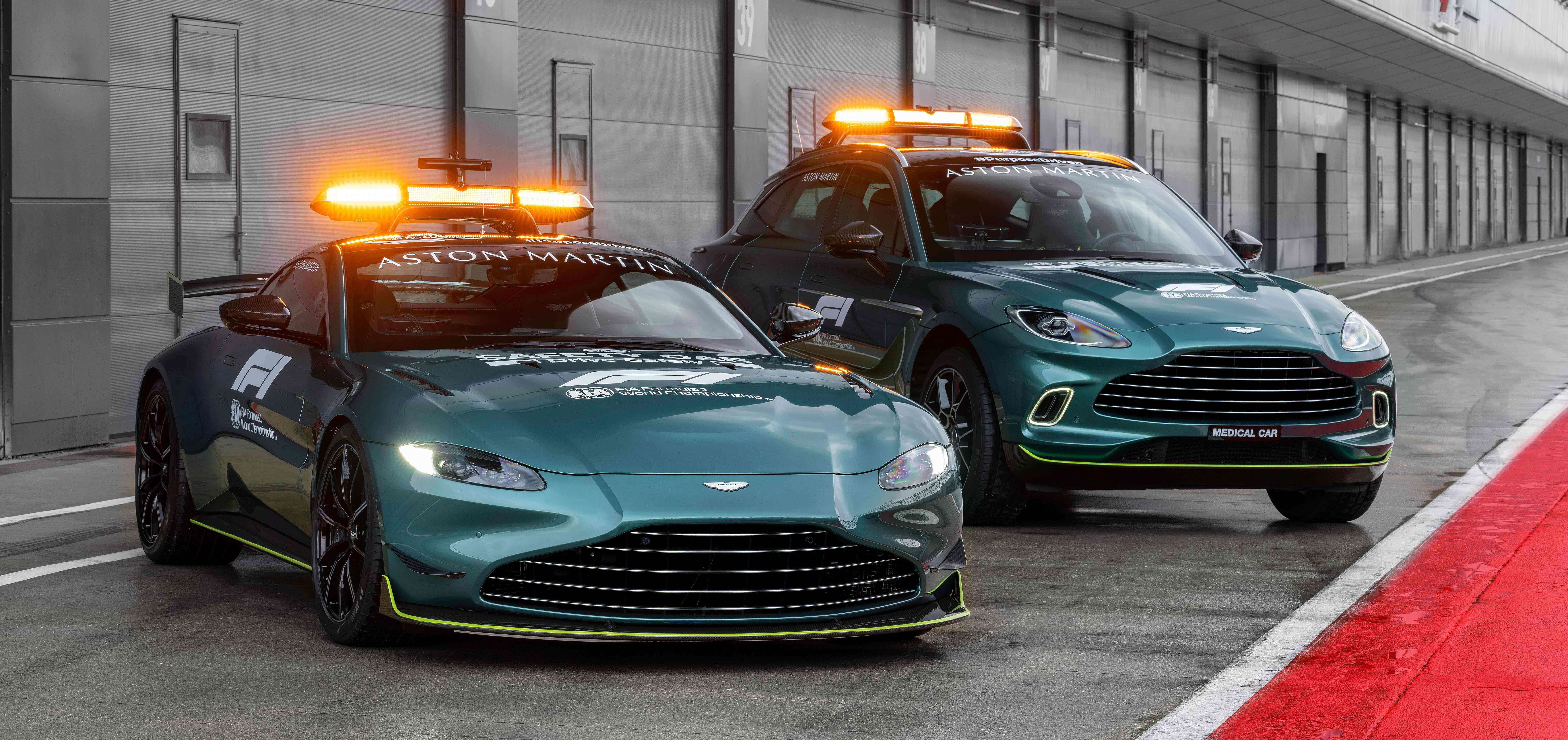 Aston Martin takes pole position as an  Official Safety Car of Formula 1