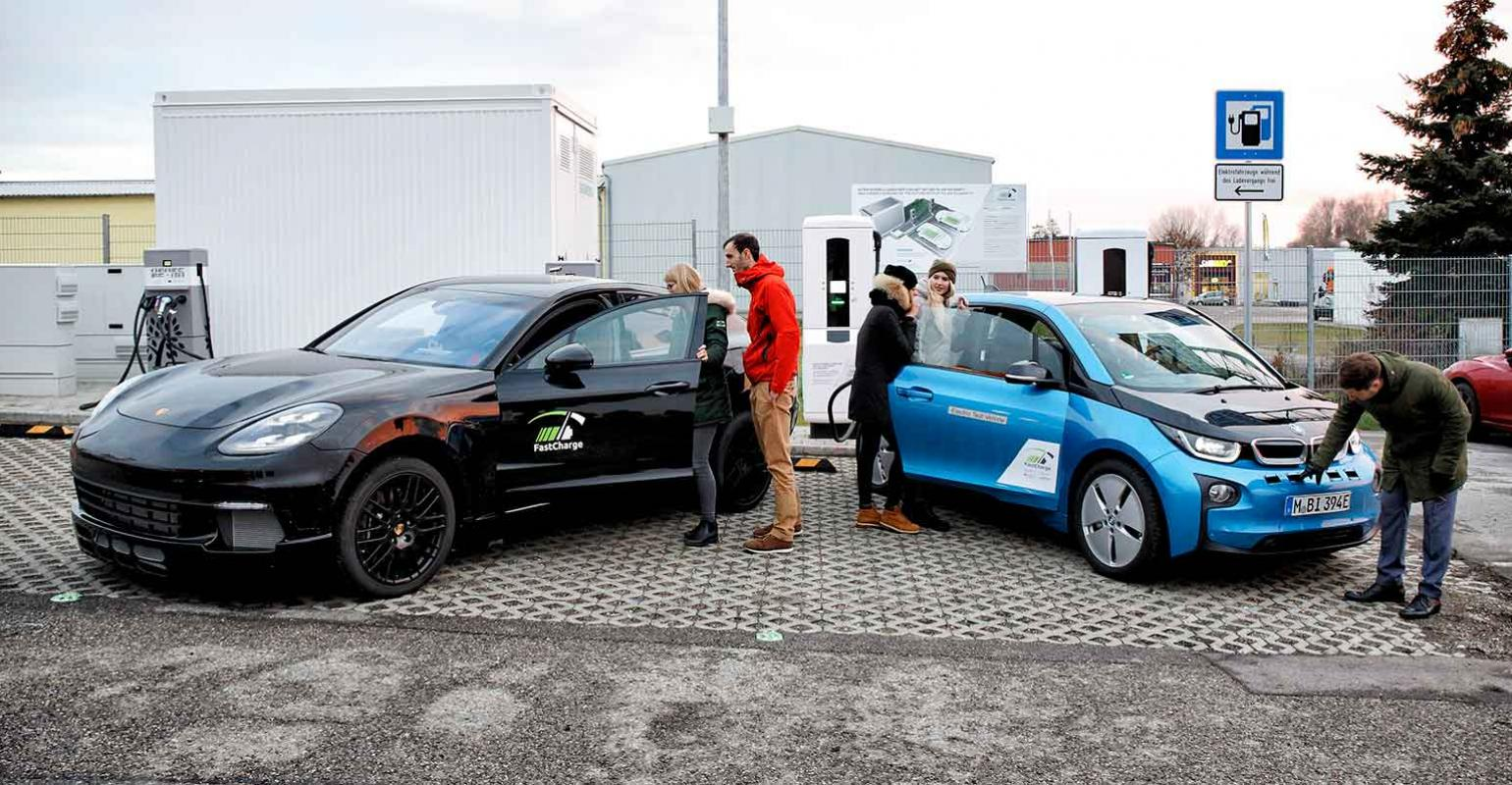 BMW and Porsche Showcase Ultra Fast Charging Station
